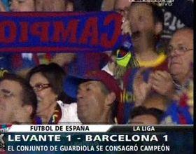 Barcelona logró el punto que necesitaba y es tricampeón de España