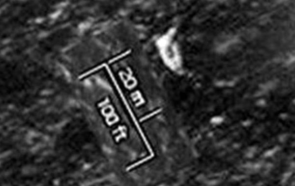 Una imagen satelital donde se aprecia lo que podría ser el velero buscado.