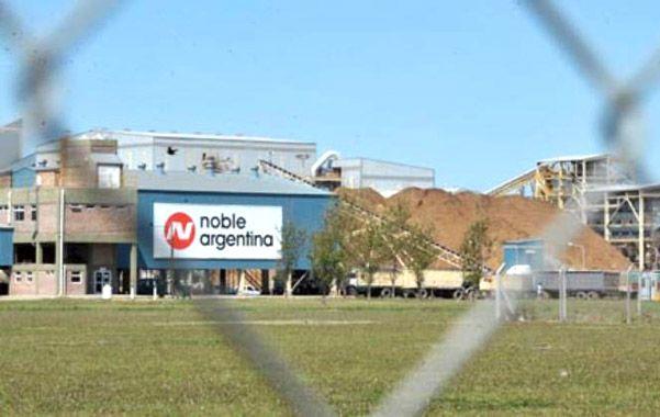 El lugar. El accidente se produjo en la planta de Noble.