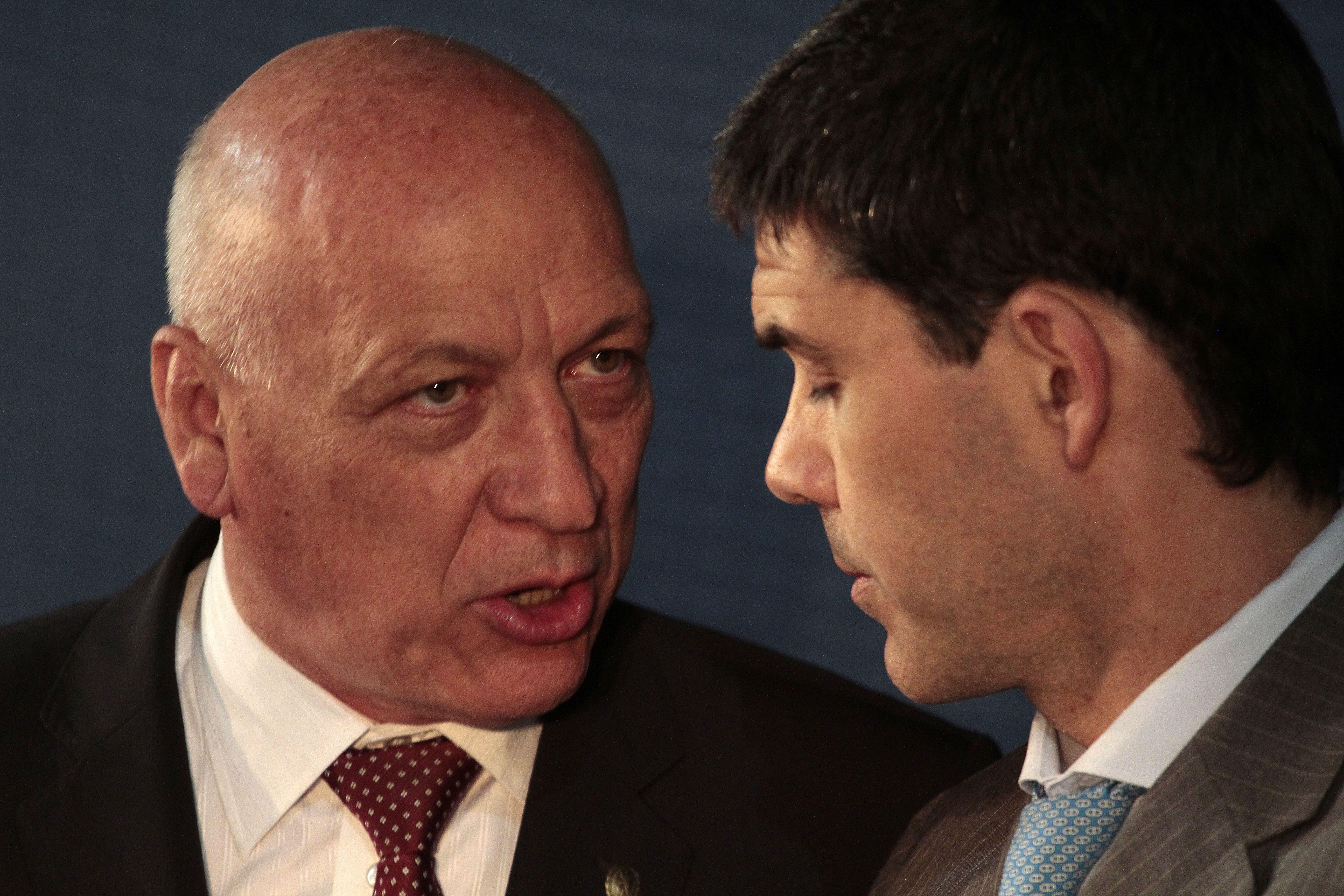 El gobernador Antonio Bonfatti y el baigorriense Alejandro Ramos.