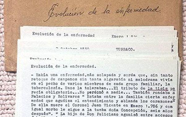 """Tesoro. Notas de Gabo para """"El general en su laberinto""""."""