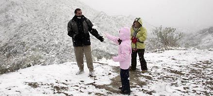 La primavera comenzó con nevadas en San Luis, Mendoza y La Pampa