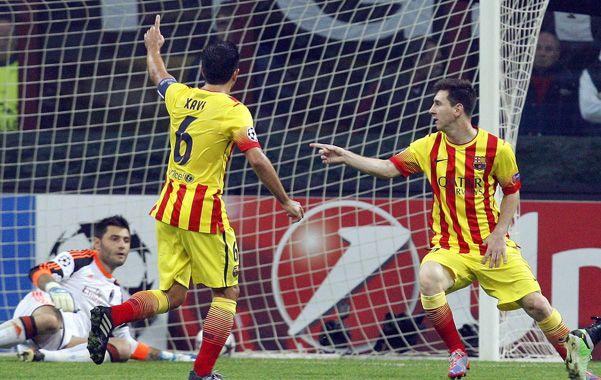 Volvió a festejar. Messi aprovechó un grosero error de la defensa italiana para marcar el tanto de la igualdad.