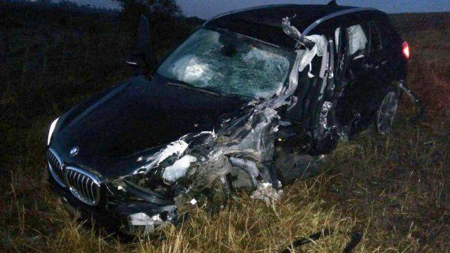 Un juez de faltas provincial sufrió un grave accidente carretero