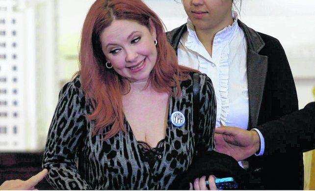 Andrea Del Boca. La actriz fue citada junto a ex funcionarios.