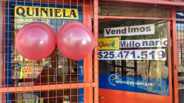 La agencia vendió la jugada ganadora del Quini.