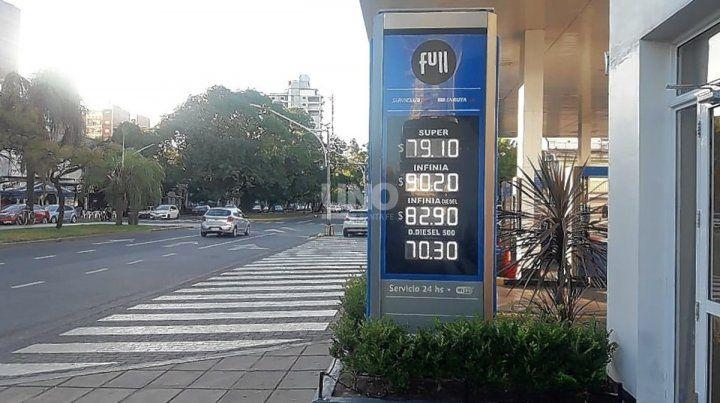Un fin de semana a puro aumento de combustibles.