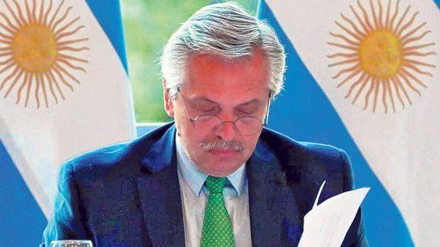 mensaje. Alberto Fernández
