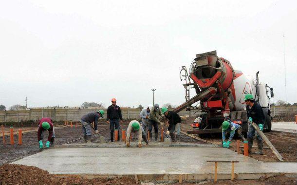 En obras. Los trabajos de la Municipalidad en la zona norte van a buen ritmo.