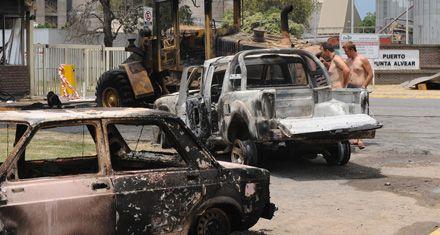 Camioneros protagonizaron destrozos en la planta de Cargill