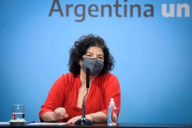 La ministra de Salud Carla Vizzotti leyó el correo electrónico que le mando el director par América Latina de Covax