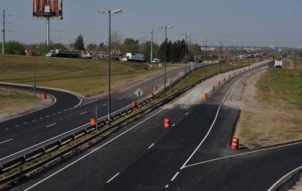 La avenida de Circunvalación está en obras de ensanchamiento.