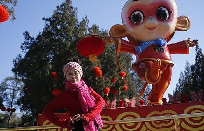 China celebra este lunes el Año Nuevo del mono.