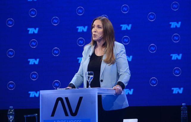 La ex gobernadora de Buenos Aires María Eugenia Vidal disparó contra el ministro de Seguridad