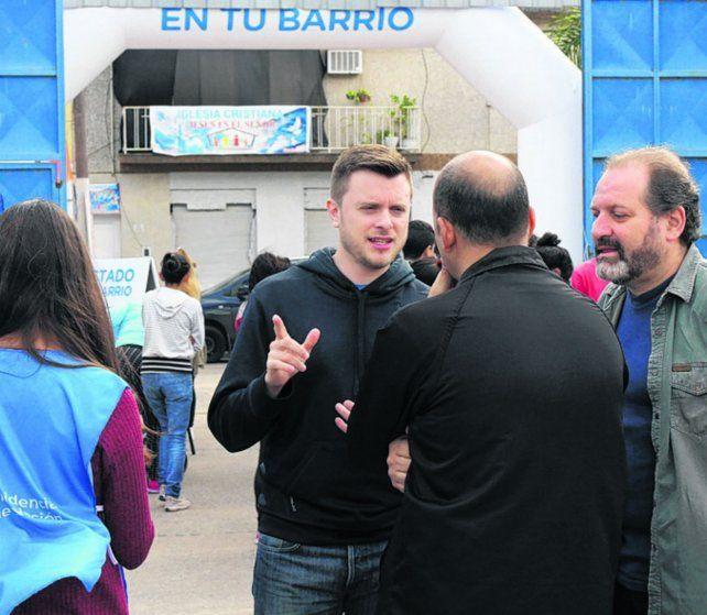 Con Roy. Una de las recorridas de Cardozo junto a López Molina.