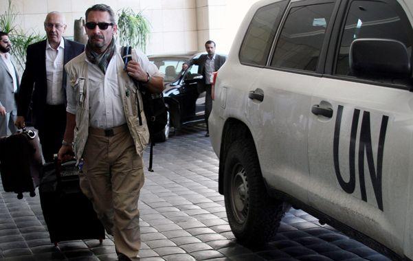 Investigación. Los expertos en armas llegan a Damasco para constatar el uso de gases químicos.