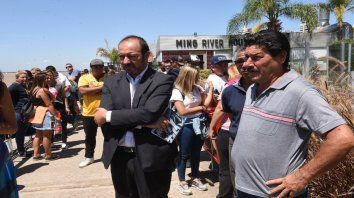 El abogado Salvador Vera y Edgardo Orellano, padre de Bocacha, en una de las marchas por justicia.