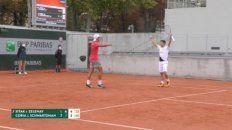 Schwatzman y Coria vencieron a Sitak-Zelenay en or 7-6 (7-4), 3-6 y 6-4, luego de 2 horas y 25 minutos de juego.