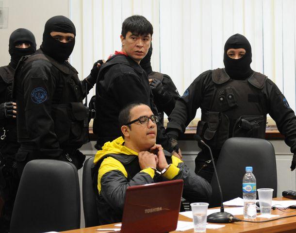 Guille Cantero durante uno de los juicios que lo tuvo como acusado.