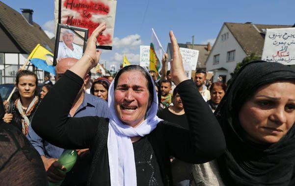 Desesperación. Manifestación de yaziditas en Alemania