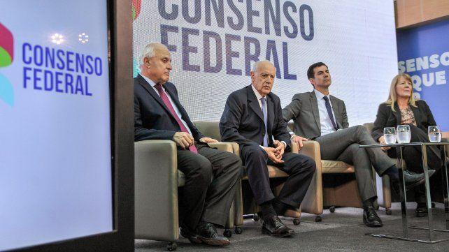 Lavagna presentó el frente Consenso Federal junto a Urtubey, Stolbizer y Lifschitz