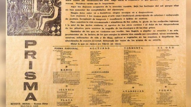 La revista-mural dedicada por Borges a Macedonio Fernández.
