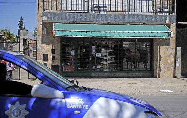 El local donde el comerciante resultó baleado. (foto: Ángel Amaya)