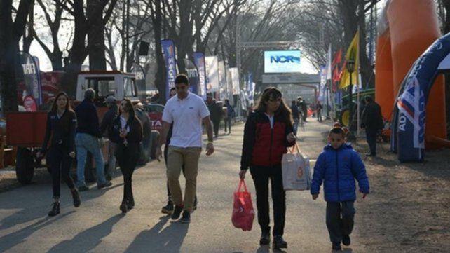 Muchos visitantes. El fin de semana la Expo fue muy concurrida.