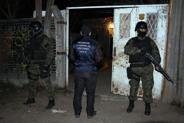 zona oeste. Distintas brigadas policiales participaron de los operativos.