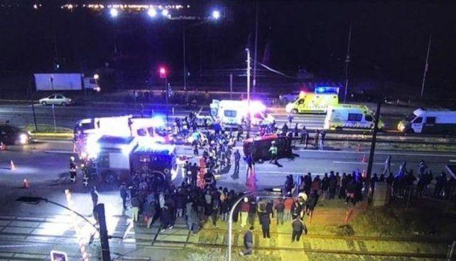 Un auto atropelló a un grupo de manifestantes en el sur de Chile
