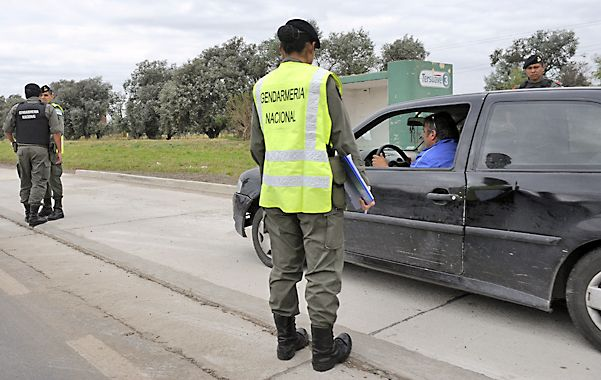 En la ruta. Uno de los operativos realizados por Gendarmería en 2014