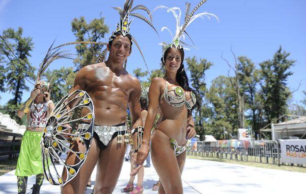 Ritmo y color. La inspiración del carnaval de Brasil estuvo presente.