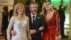 Jorge, su mujer y su hija pasaron por la alfombra roja del casamiento de Lionel y Antonela.