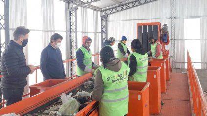 La planta de compostaje del sur de la ciudad recicla 150 toneladas.