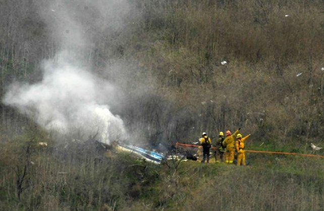 Las primeras fotos del accidente en el que murió Kobe Bryant