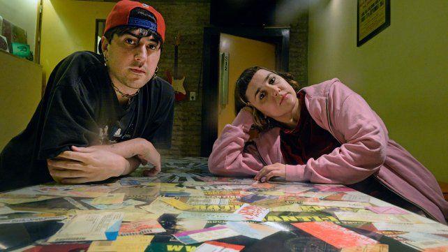 Nico Landaburu y Maru Freire (Bubis Vayins), en la espera de volver a mostrar su música en vivo.