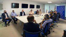 Reunión del sector comercial en la Central Operativa Analítica Criminal.