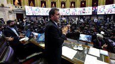 El presidente de la Cámara de Diputados, Sergio Massa, durante la sesión donde se trata el Presipuesto 2021.