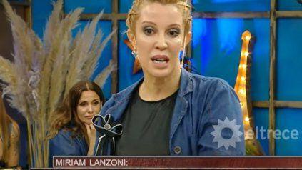 Miriam Lanzoni se cruzó con Benito Fernández y estalló en llanto.
