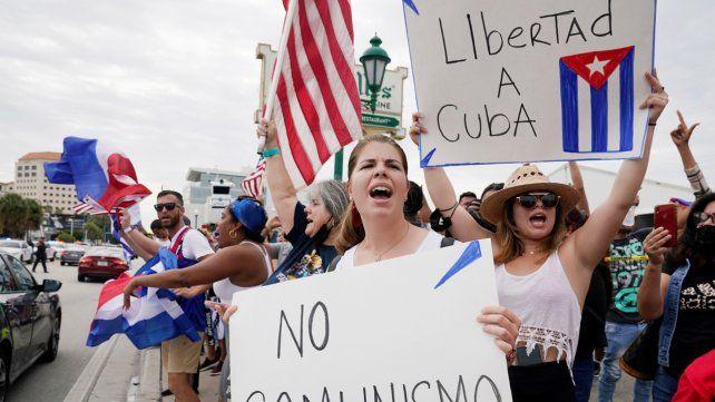 En Miami se realizaron varias manifestaciones en contra del gobierno cubano.