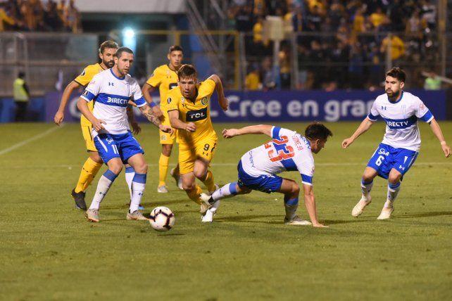 El último partido de Central en Chile fue ante Católica.