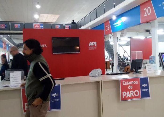 Las oficinas del API lucieron esta mañana sin atención al público. (Foto: Sebastián Suárez Meccia / La Capital)