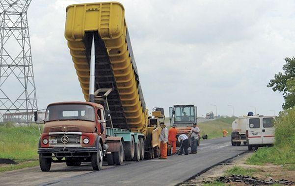 En obra. Los contratos en la colectora de la autopista ya están en ejecución.