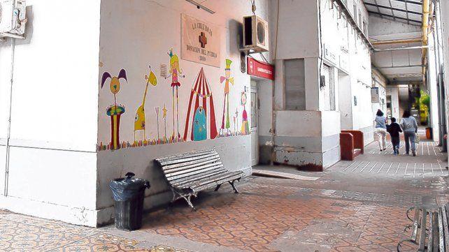 hospital provincial. Uno de los centros de salud afectados por la determinación gremial.