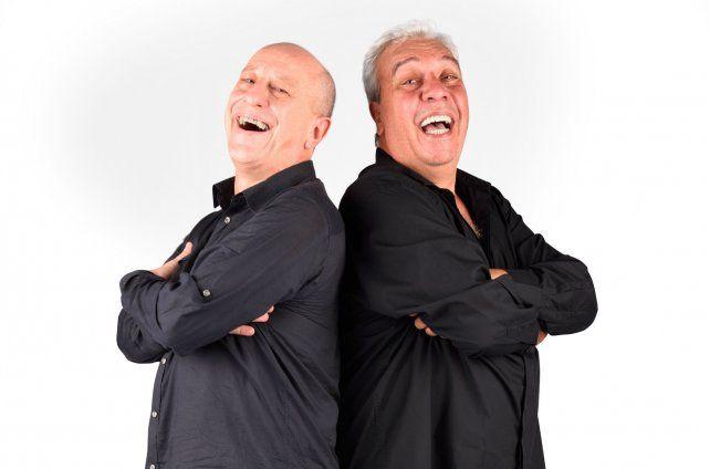 Elegancia. Daniel Aráoz y Coco Sily aportan su cuota de humor en Demoledores.