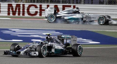 """Rosberg recorrió ayer la mejor vuelta al trazado en 133185/1000 seguido por su """"coequiper"""""""