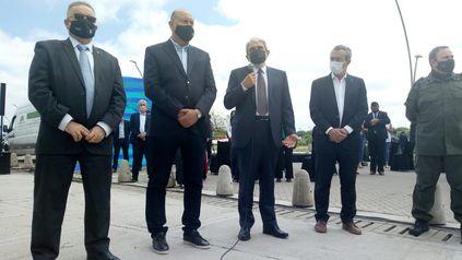 El ministro de Seguridad, Aníbal Fernández, resaltó que las fuerzas federales llegaron para quedarse.