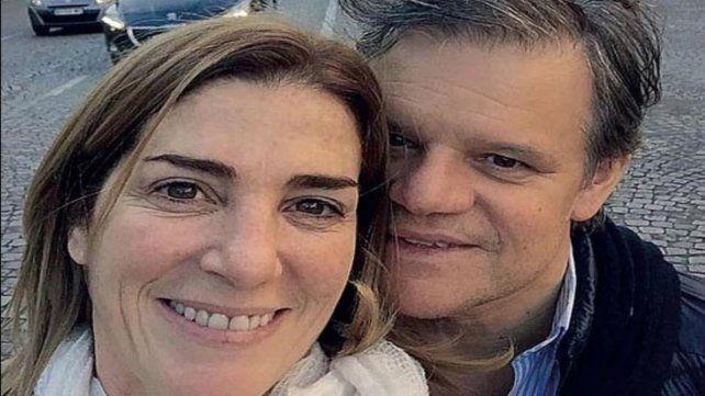 Pareja. Una foto de Sacco con su esposa