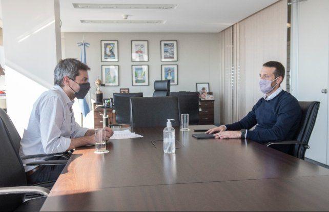 Con Lammens. El ministro de Turismo fue uno de los que recibió a Corsalini.