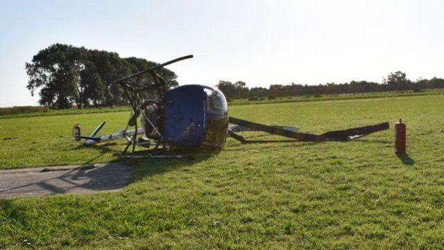 Ilesos. Los dos tripulantes del helicóptero no sufrieron ningún daño.